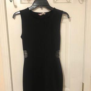 black laced body con dress